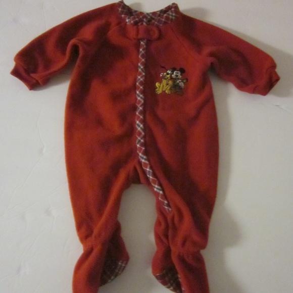 disney christmas pluto mickey pajama 03 months
